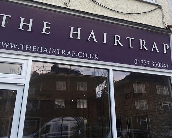 The Hairtrap - front of salon